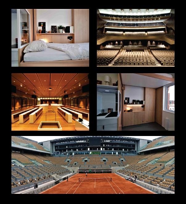 Mobilier scolar stadion V.I.P Roland Garros camin toulouse camin yvette tribunal Paris teatrul mare Lorient